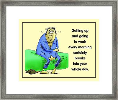 Daily Grind Framed Print by Mike Flynn