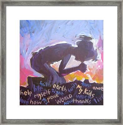 Daily Prayer Framed Print by Tilly Strauss