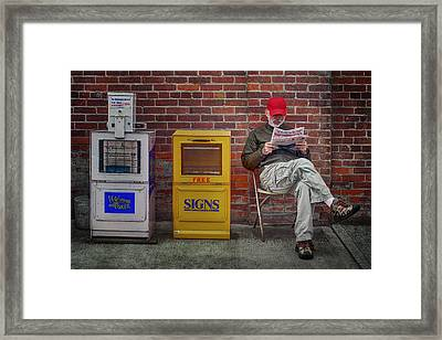 Daily Read - Small Town Life Framed Print