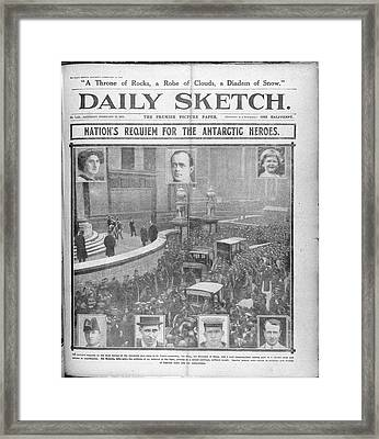 Daily Sketch Framed Print by British Library