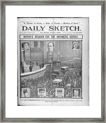 Daily Sketch Framed Print