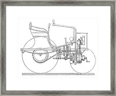 Daimler Automobile, 19th Century Framed Print by Spl