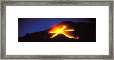 Daimonji Kyoto Japan Framed Print by Panoramic Images