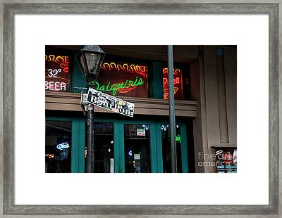 Daiquiris On Bourbon  Framed Print by John Rizzuto