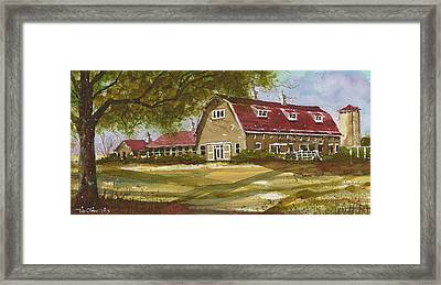 Dairy Barn At Texas Tech University 2 Framed Print