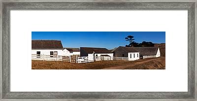 Dairy Buildings At Historic Pierce Framed Print