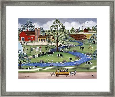Dairy Farm Framed Print by Linda Mears