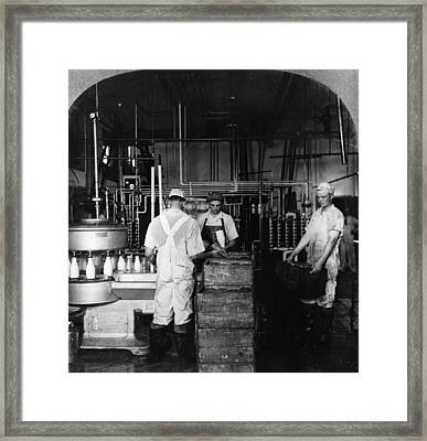 Dairy Industry, C1906 Framed Print