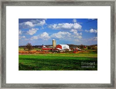 Dairy Land Framed Print by Reid Callaway