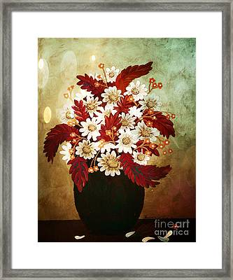 Daisies And Forget Me Nots Infrared Framed Print