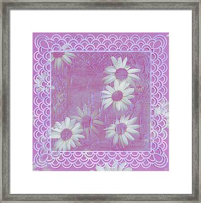Framed Print featuring the photograph Daisies And Paper Lace by Sandra Foster