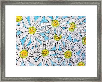 Daisies Daisies Framed Print
