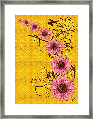 Daisies Design - S01y Framed Print