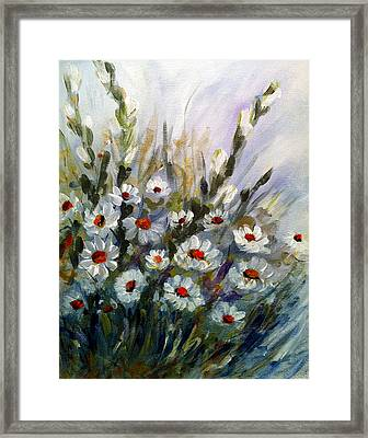Framed Print featuring the painting Daisies by Dorothy Maier