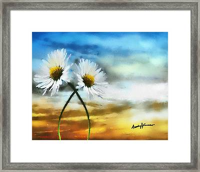 Daisies In Love Framed Print by Anthony Caruso