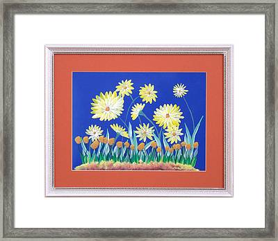 Framed Print featuring the painting Daisies by Ron Davidson