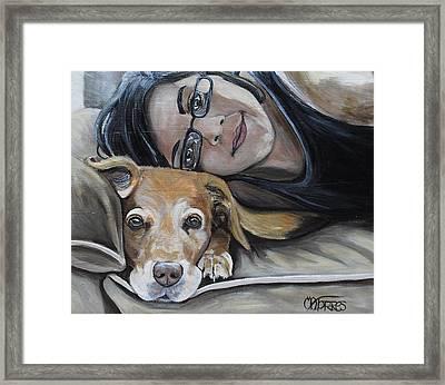 Daisy And Melissa Framed Print