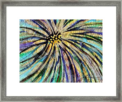 Framed Print featuring the painting Daisy Blue by Joan Reese
