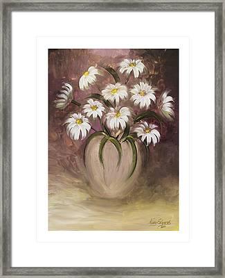 Daisy Delight Framed Print by Nancy Edwards