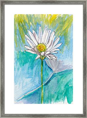 Framed Print featuring the painting Daisy Expression by Julie Maas