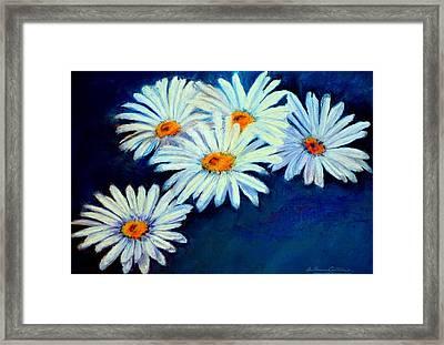 Daisy Fever  Pastel Framed Print by Antonia Citrino