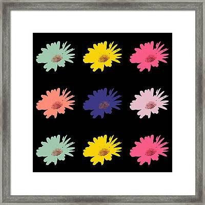 Daisy Flower In Pop Art Framed Print by Tommytechno Sweden