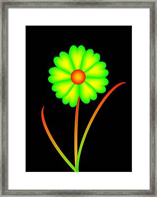 Framed Print featuring the digital art Daisy by Gayle Price Thomas