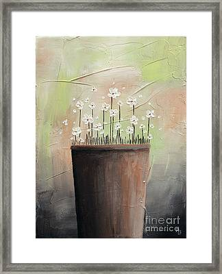Daisy In Pot2 Framed Print by Home Art