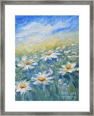 Daisies Framed Print by Jane  See