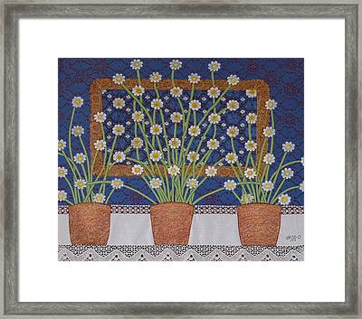 Daisy Lace Framed Print by Jessica Theriault