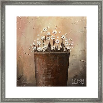 Daisy Pot Framed Print by Home Art