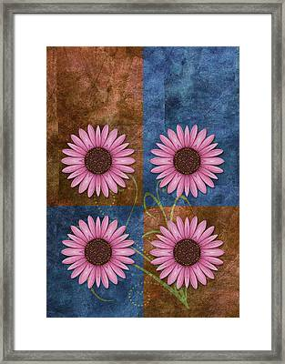 Daisy Quatro V04 Framed Print by Variance Collections
