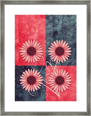 Daisy Quatro V13b Framed Print by Variance Collections