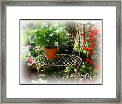 Framed Print featuring the photograph Daisy Welcome by Heidi Manly