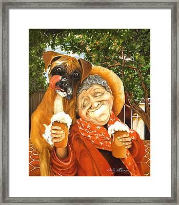 Daisy's Mocha Latte Framed Print by Shelly Wilkerson