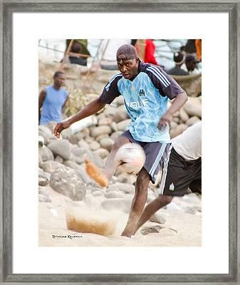 Dakar's Beach Soccer Framed Print by Stwayne Keubrick