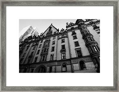 Dakota Apartments Upper West Side Central Park West New York City Framed Print by Joe Fox