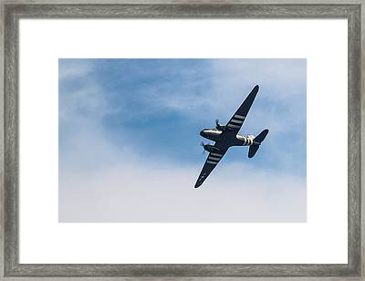 Framed Print featuring the photograph Dakota D-day Markings by Scott Lyons