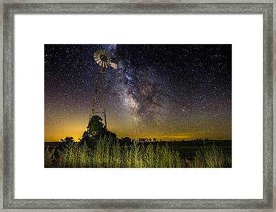 Dakota Night Framed Print by Aaron J Groen