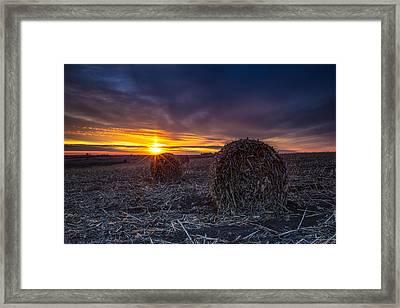 Dakota Sunset Framed Print by Aaron J Groen