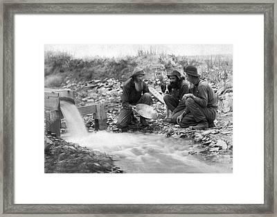 Dakota Territory Gold Miners Framed Print by John C. H. Grabill