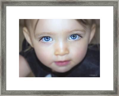 Dakota's Eyes Framed Print