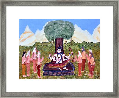 Dakshinamurty Framed Print