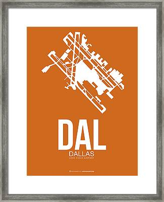 Dal Dallas Airport Poster 2 Framed Print by Naxart Studio