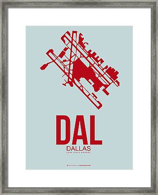 Dal Dallas Airport Poster 4 Framed Print