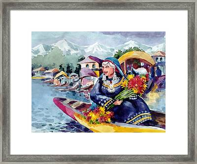Dal Lake Jewel In The Crown Of Kashmir Framed Print by Donna Jolly Jacob