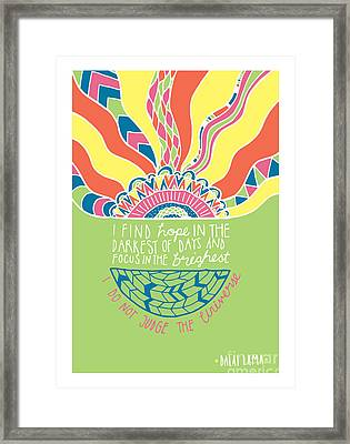 Dalai Lama Quote Framed Print by Susan Claire