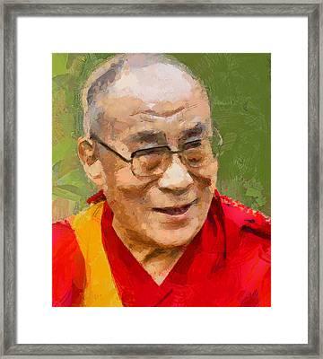 Dalai Lama Framed Print