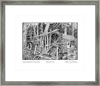 Dalby Waterwheel Hood Canal W A Framed Print by Jack Pumphrey