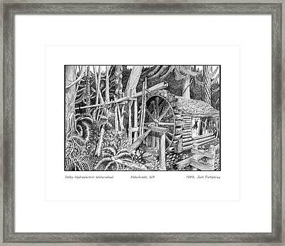 Waterwheel Hood Canal W A Framed Print